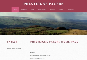 Presteigne Pacers Website Link